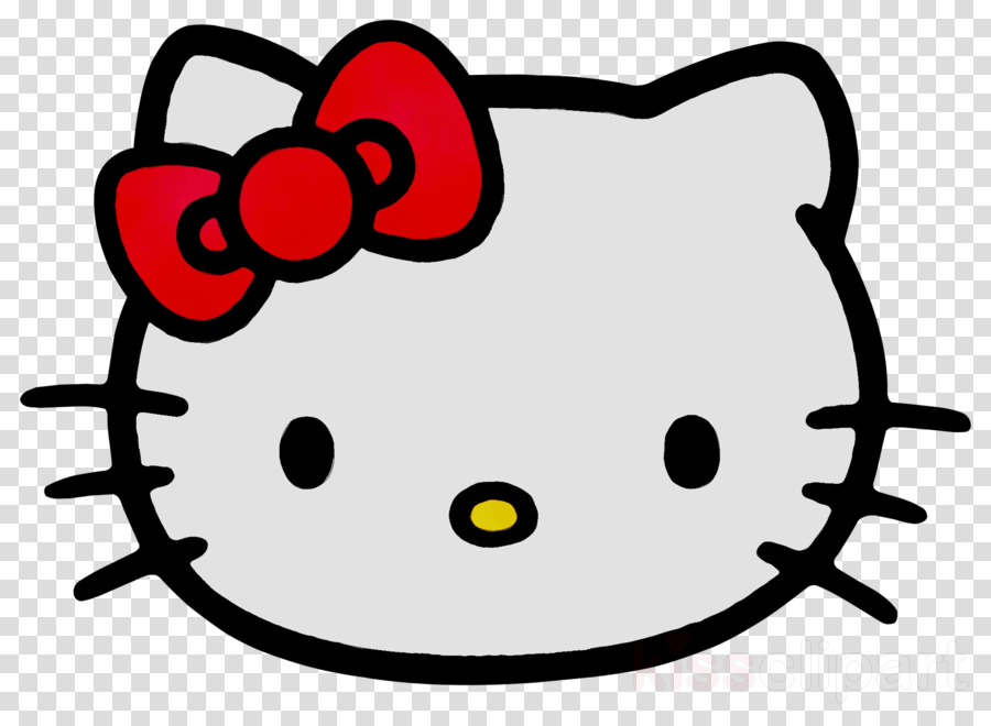 Hello Kitty Head clipart.