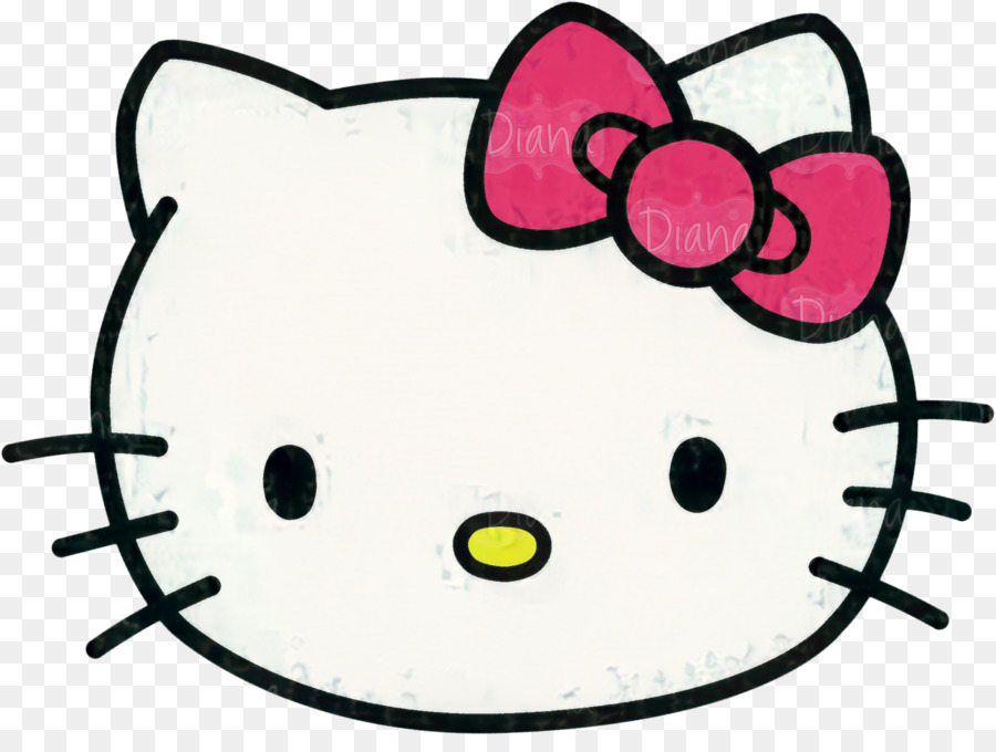 Hello Kitty Head png download.