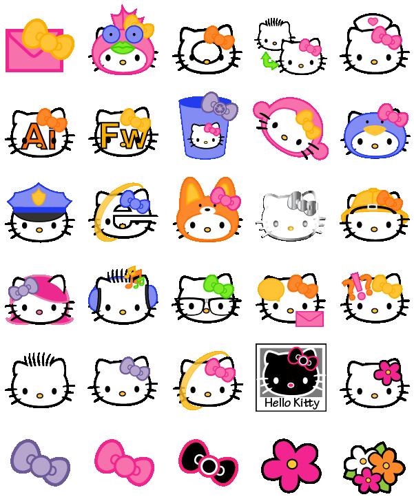 Hello Kitty Icon clipart.