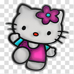 Hello Kitty Icons, Hello Kitty transparent background PNG.