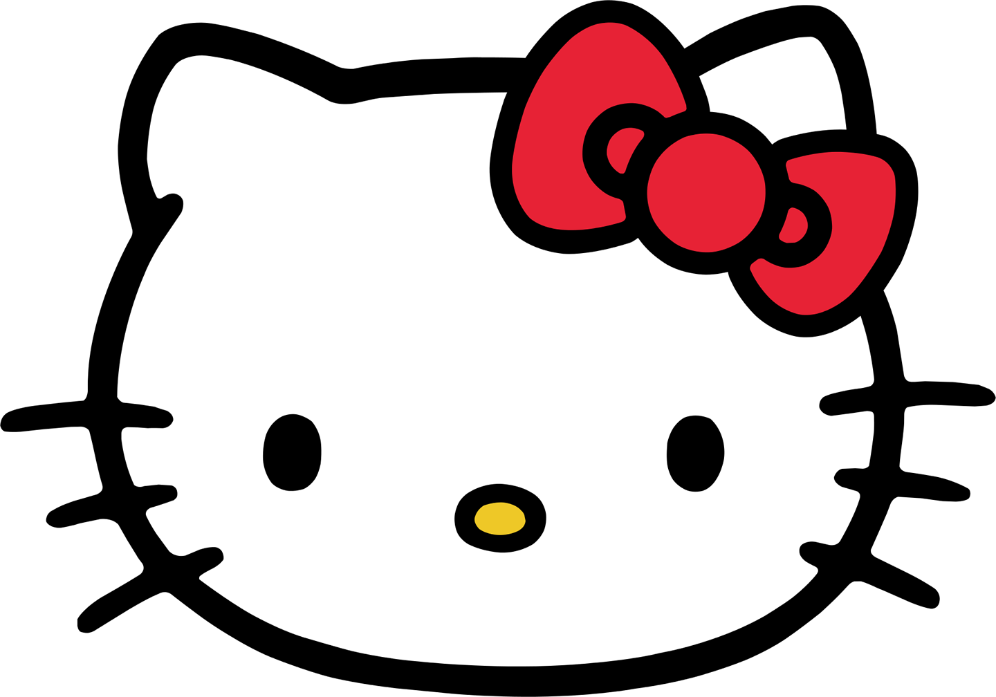 Hello Kitty Face Transparent PNG Image #1.