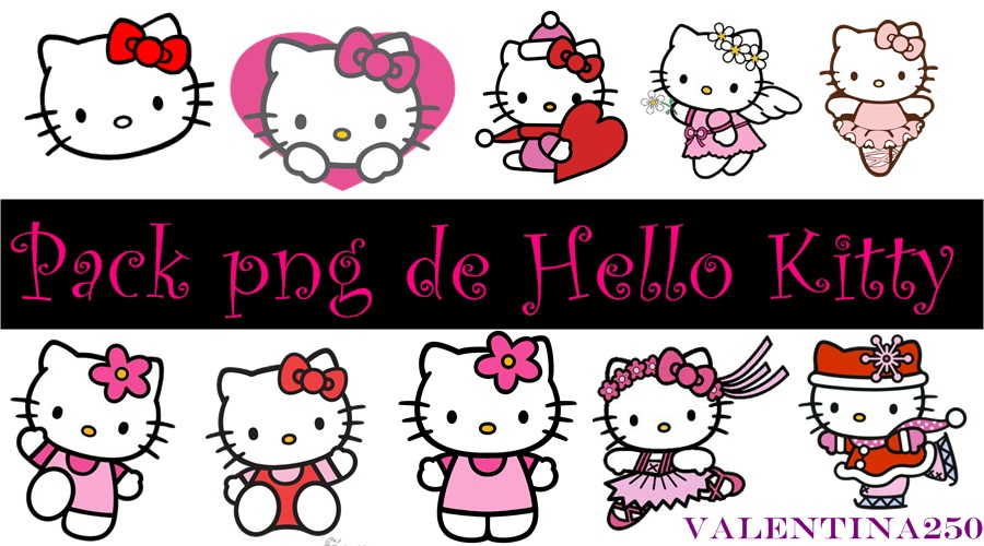 Pack png de Hello Kitty by valentina250 on DeviantArt.