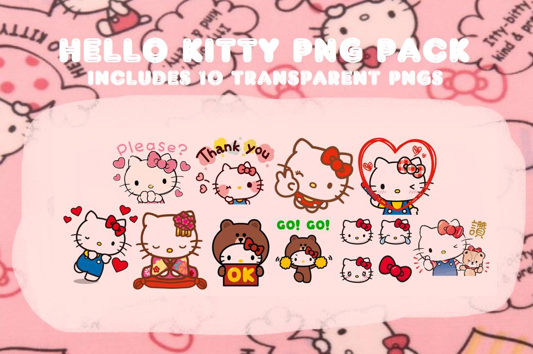 Hello Kitty Png Pack by ilovesprites on DeviantArt.