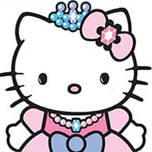 Hello Kitty Princess Castle Self Stick Wall Accent Decal Set.