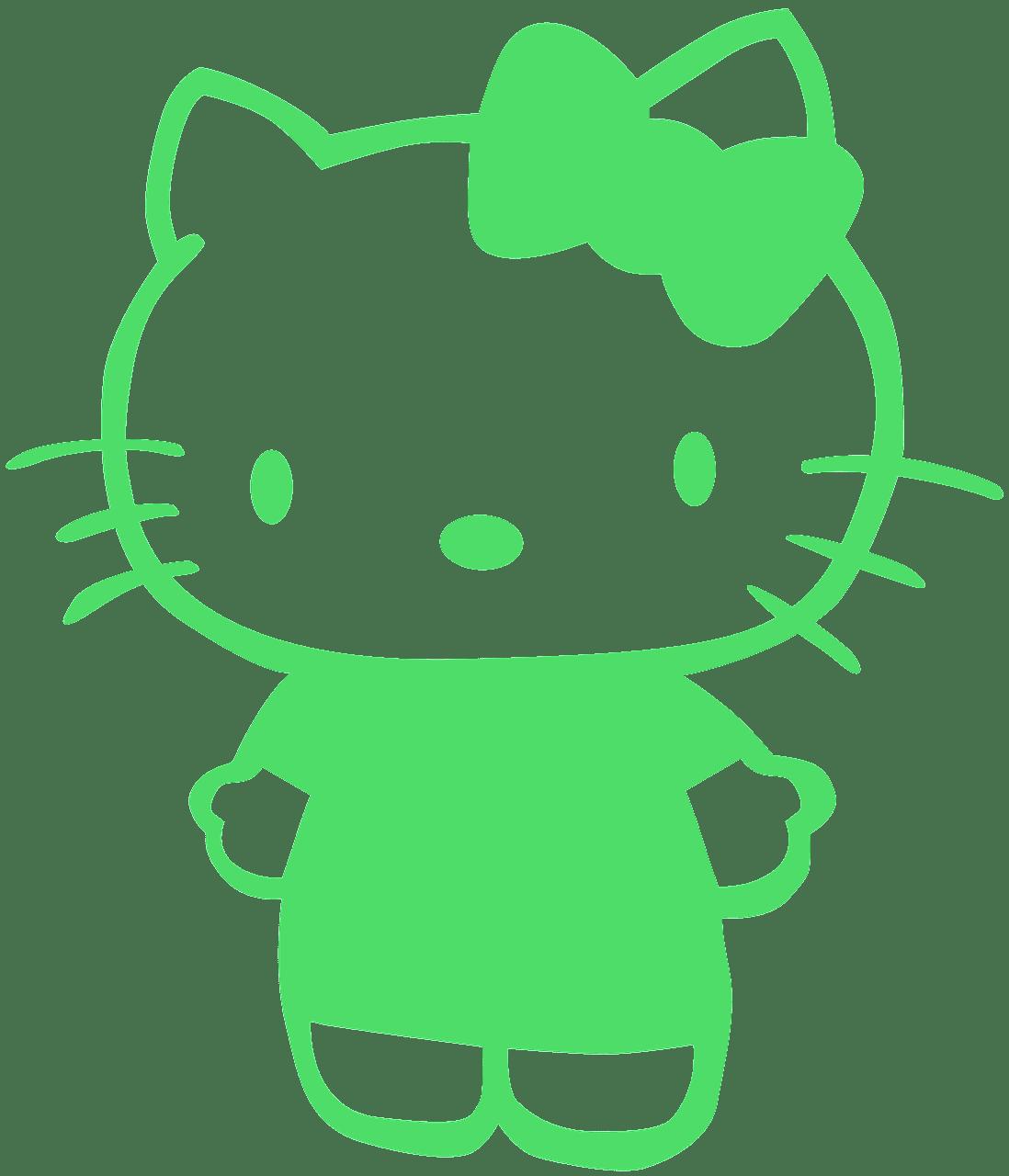 Hello Kitty silhouette.