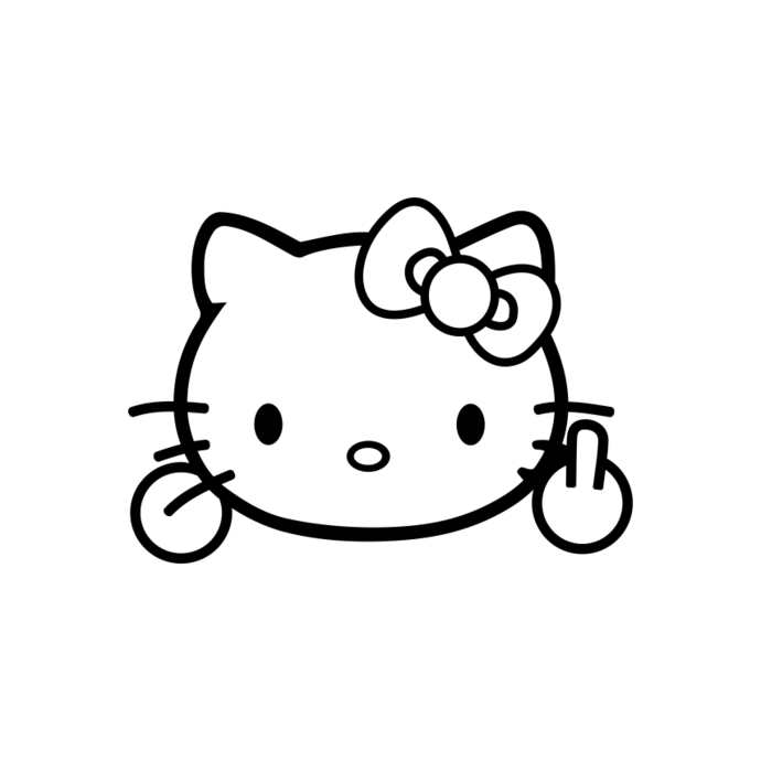 Hello Kitty Silhouette at GetDrawings.com.