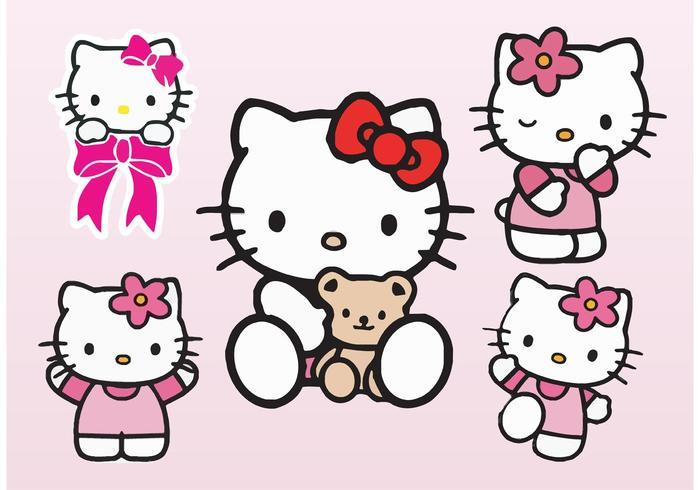 Hello Kitty Vectors.