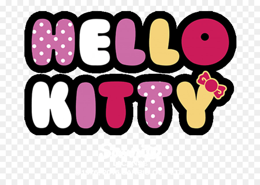 Hello Kitty Logo clipart.
