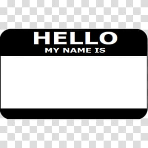 Name tag Label Paper Template Badge, Hello My Name Is transparent.
