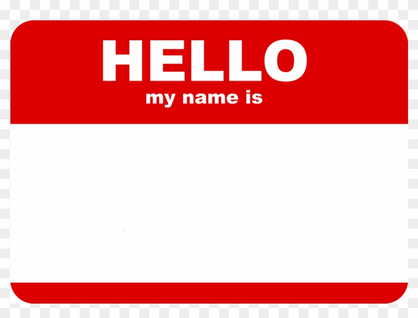 Hello My Name Is Tag Png.