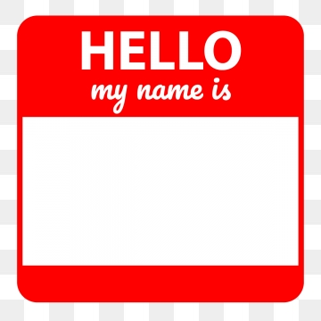 My Name Is Png, Vector, PSD, and Clipart With Transparent Background.