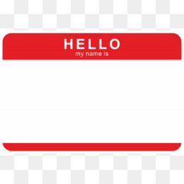 Hello My Name Is PNG And Hello My Name I #492745.