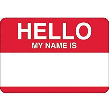 Amscan 457001 Party Name Tags, 2 1/2 x 3 1/2 inches, Red.