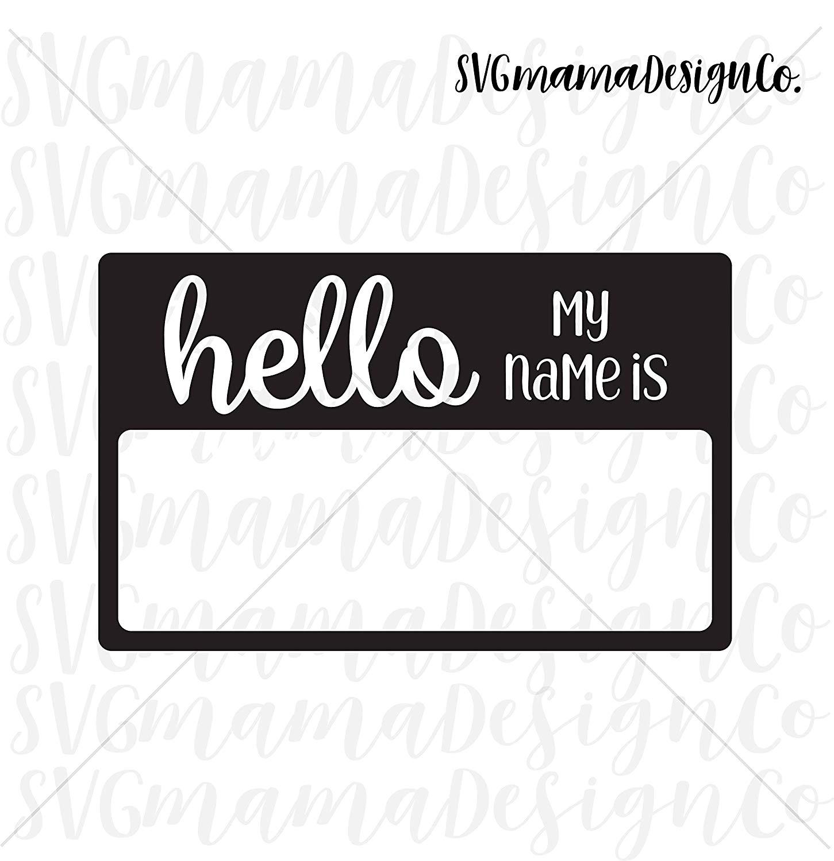 Amazon.com: Pene Hello My Name is Decal Name Tag Decal.