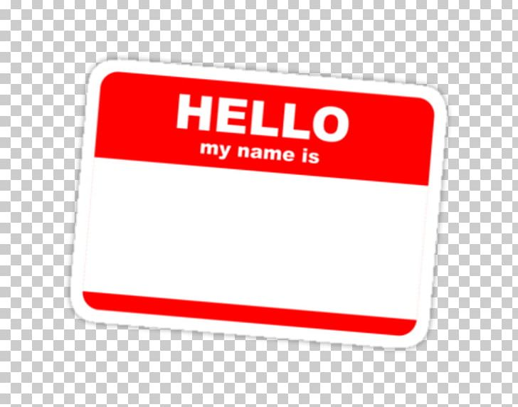 My Name Is Name Tag Sticker Label Idea PNG, Clipart, Area, Brand.