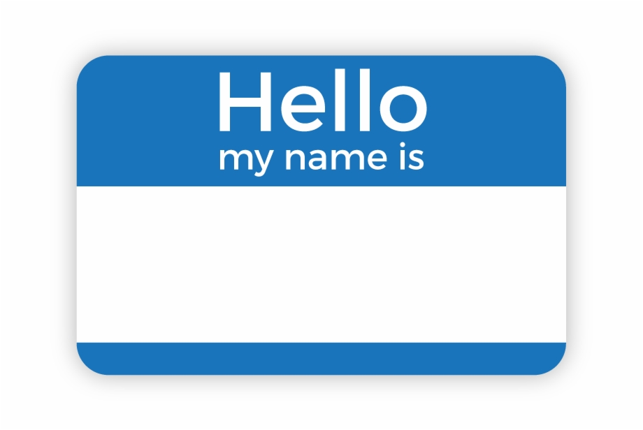 Name Tag, Badge, Template, Blue, Area Png Image With.