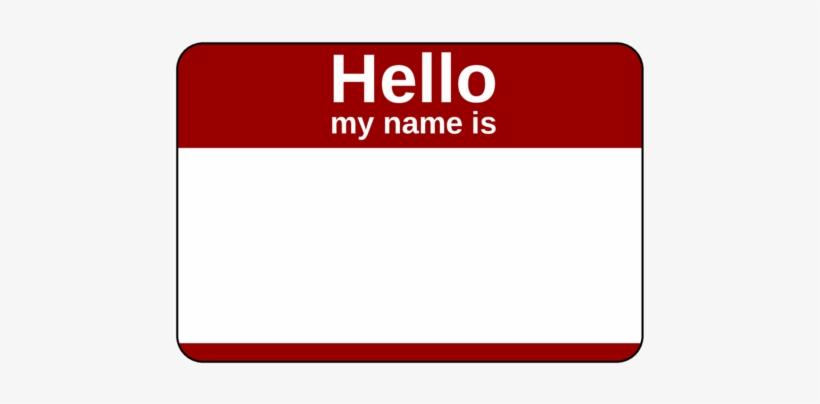 Name Tag Png.