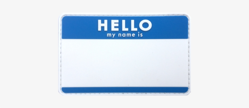Blank Hello Name Tags.