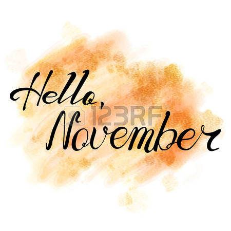 Hello November Clipart.
