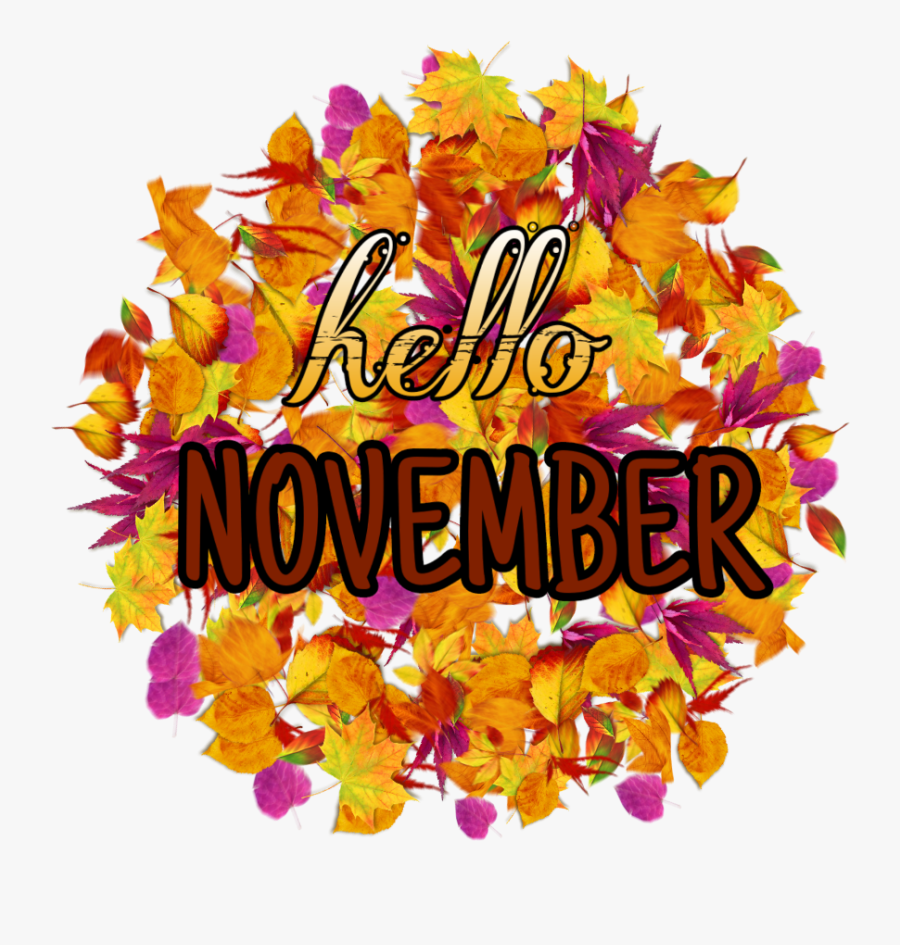 hello #november #hellonovember #fall #leaves #sticker.