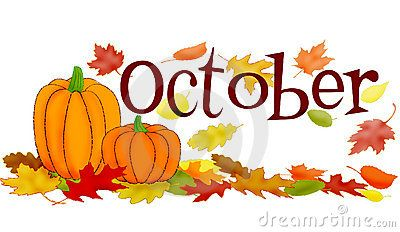 October Month Clipart.
