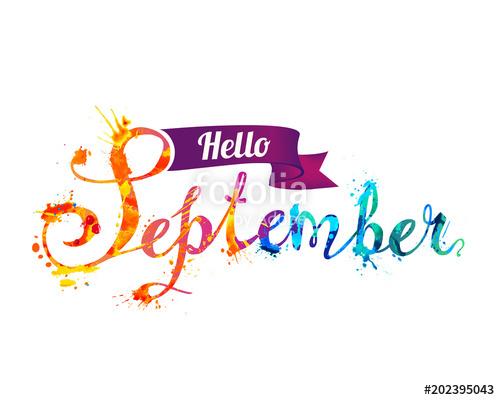Hello September Clipart Free.