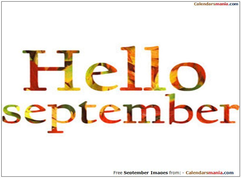 Hello September Clipart.