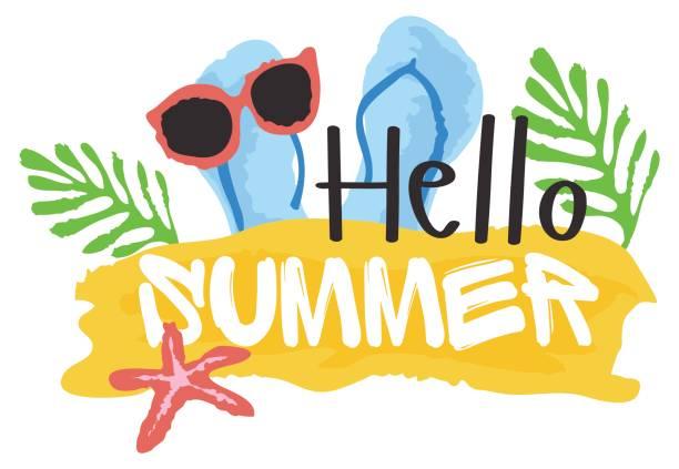 Best Hello Summer Illustrations, Royalty.