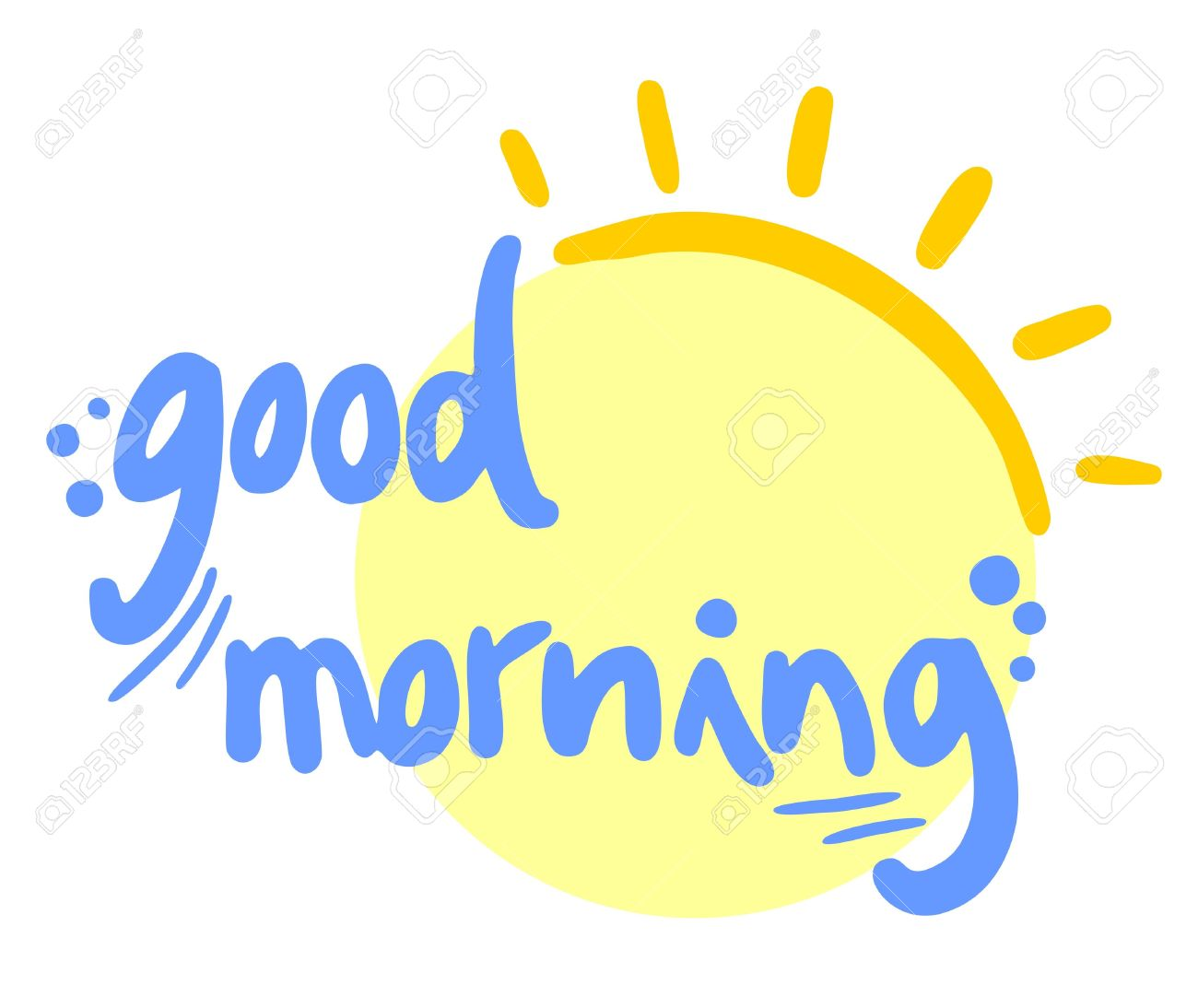 Good Morning Sun Clipart.