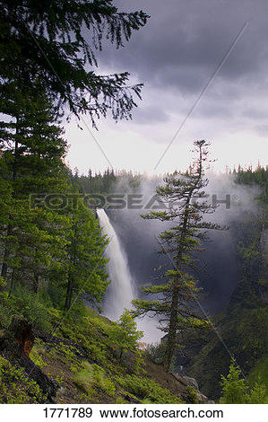 Stock Photograph of Helmcken Falls, Wells Gray Provincial Park.