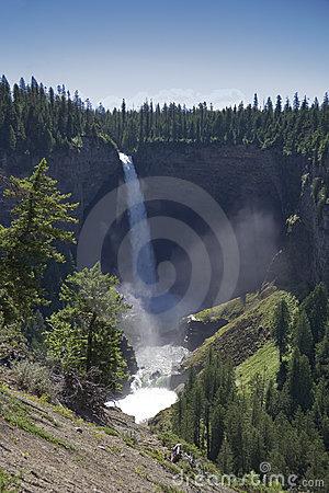 Helmcken Falls In British Columbia, Canada Stock Photo.