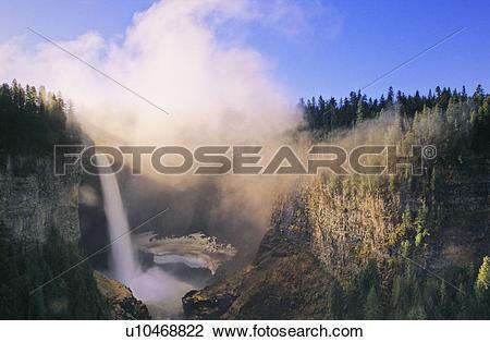 Stock Photo of Helmcken Falls, Wells Gray Provincial Park, British.