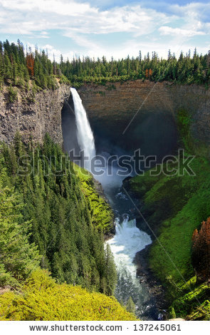 Helmcken Falls Stock Images, Royalty.