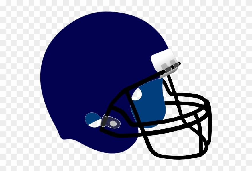 Blue Football Helmet Clip Art.