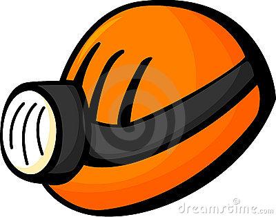 Mining Helmet Lamp Stock Illustrations.