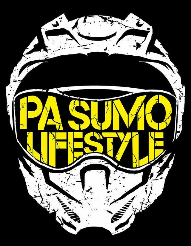 PA SUMO HELMET LOGO VINYL DECAL (4in x 3.5in).
