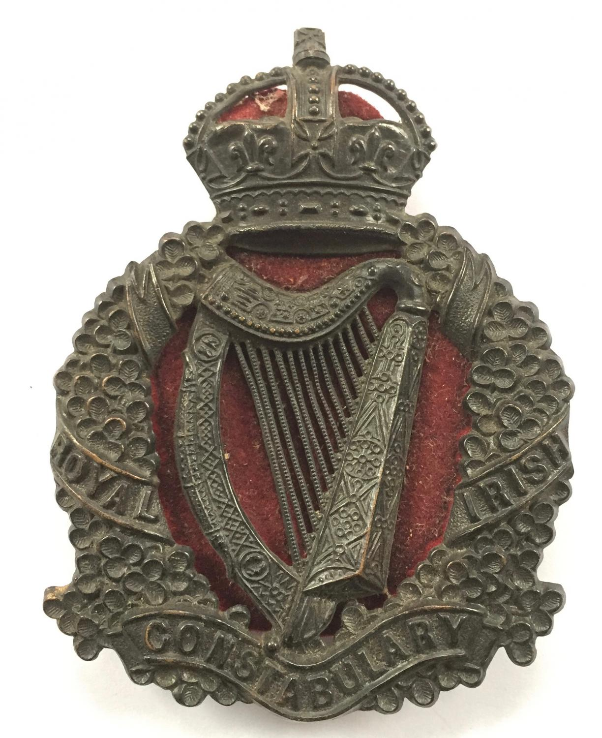 Royal Irish Constabulary police helmet plate in POLICE.