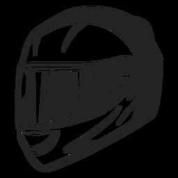 Motorcycle helmet flat icon.