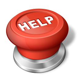 Help Button Icon, PNG ClipArt Image.