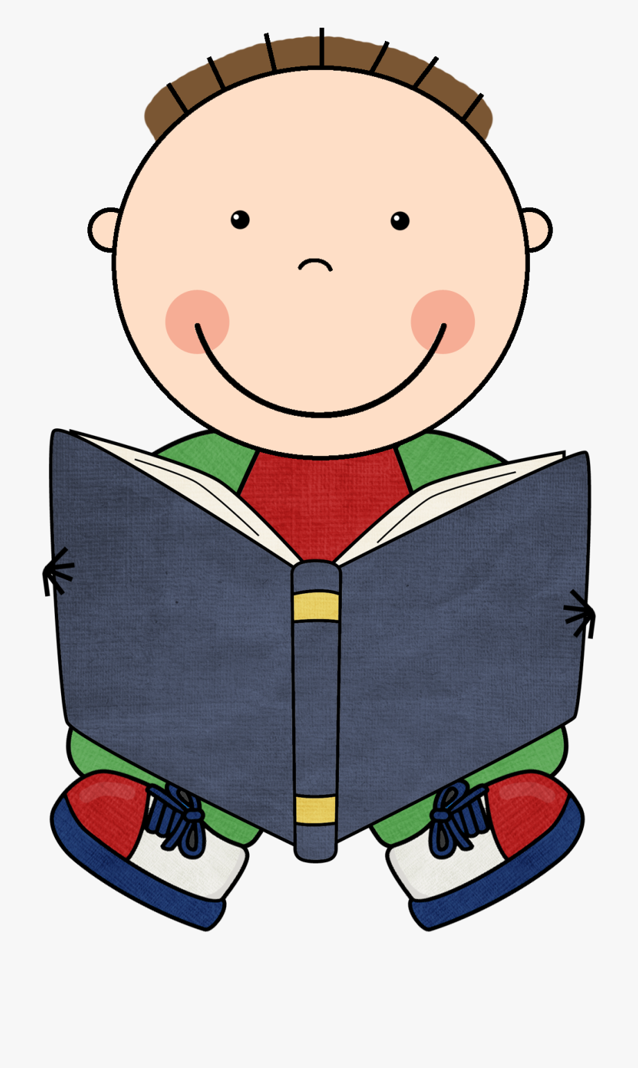 Learning At His Desk Clipart Vector.