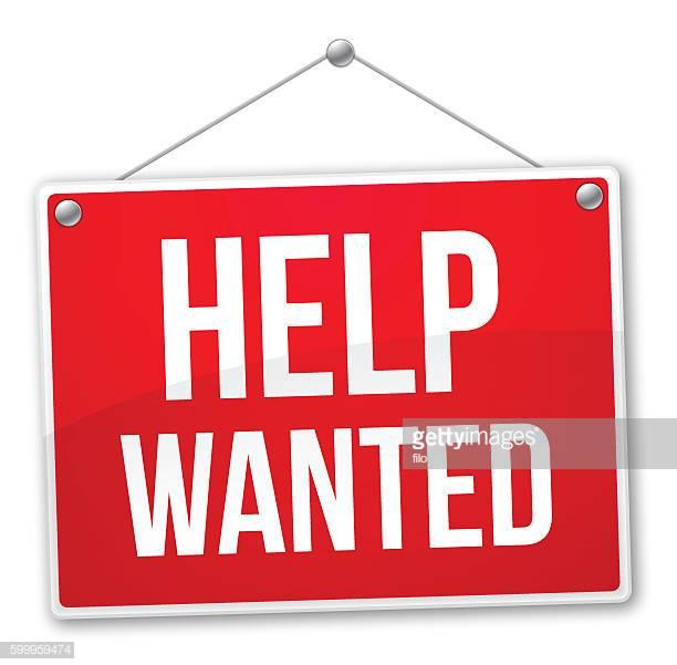 60 Top Help Wanted Sign Stock Illustrations, Clip art, Cartoons.