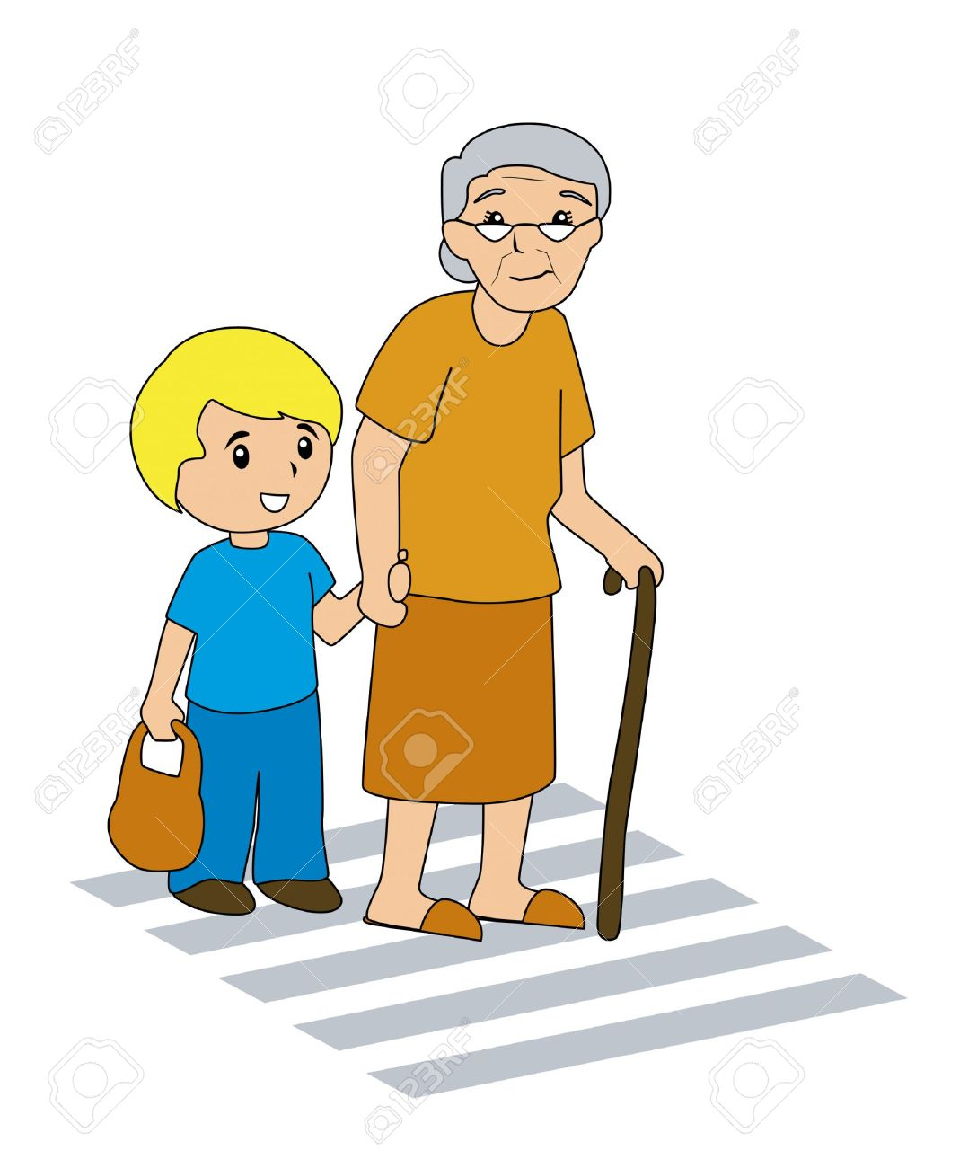 Children helping elderly clipart 6 » Clipart Station.