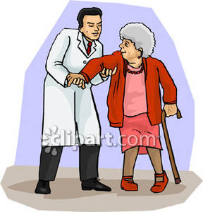 Doctor Helping Someone Clipart.