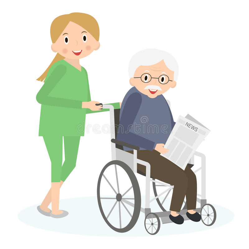 Helping Elderly Stock Illustrations.