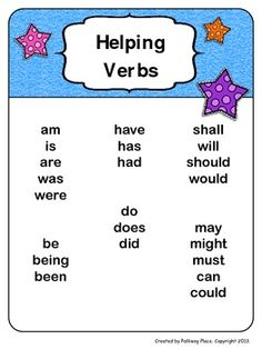 Is, Am or Are Helping Verbs Worksheet.