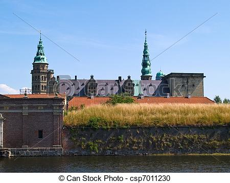 Stock Photography of Kronborg Castle of Hamlet Elsinore Helsingor.