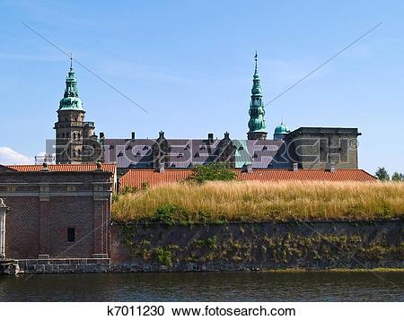 Stock Photography of Kronborg Castle of Hamlet Elsinore Helsingor.