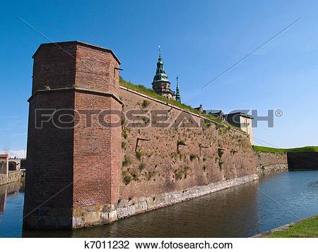 Stock Photo of Kronborg Castle of Hamlet Elsinore Helsingor.