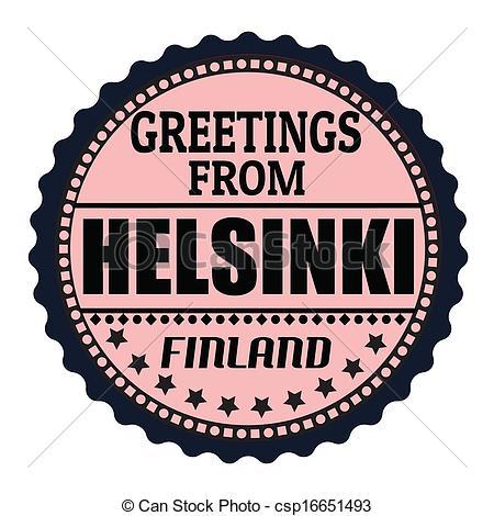 Clipart Vector of Helsinki stamp.