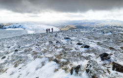 Helvellyn Mountain In Winter Royalty Free Stock Photography.